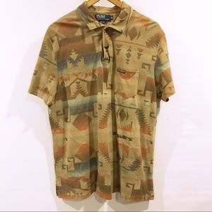 Ralph Lauren Polo | Aztec print polo men's XL